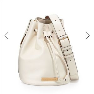 Marc by Marc Jacobs off white leather bucket bag